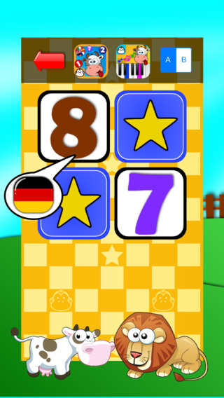Baby Match Game - Learn the numbers in German