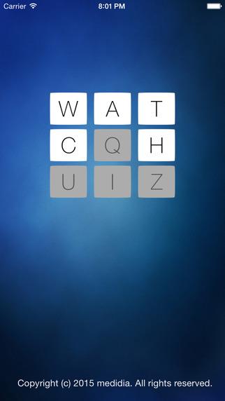 Watch Letter Quiz
