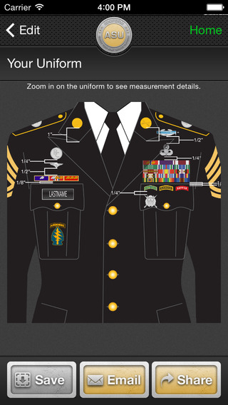 Iuniform Asu Builds Your Army Service Uniform On The App