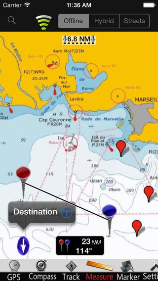France Mediterranean GPS Nautical charts