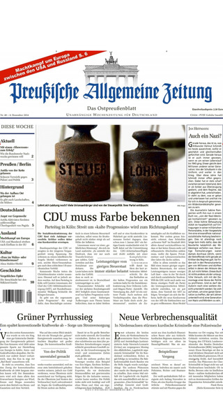 Preußische Allgemeine Zeitung - epaper