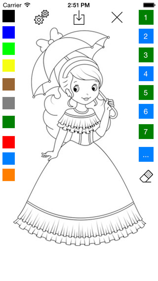 Princess Coloring Book for Girls - Learn to Color Ice Princess Fairy and Queen