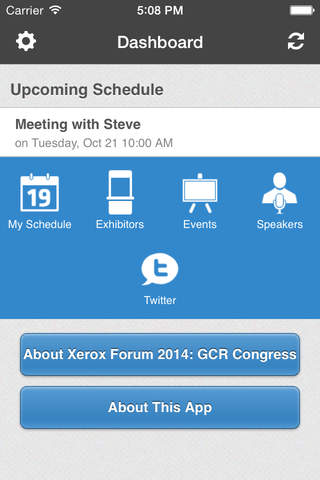 Xerox Forum 2014: GCR Congress screenshot 2