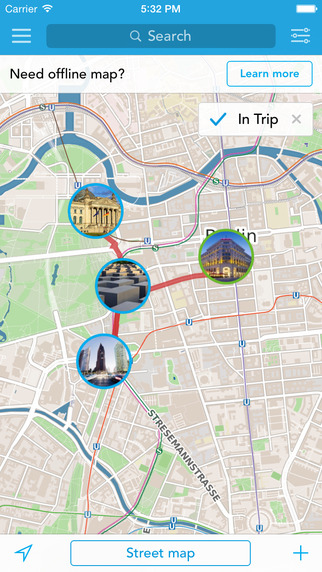 Trip Planner Travel Guide Offline City Map for Western Europe - Germany Netherlands Austria Switzerl