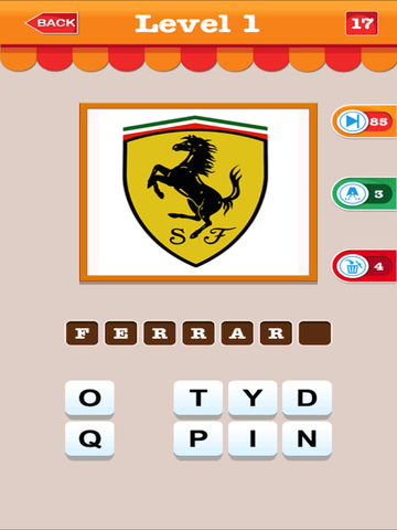 Aaa Trivia Quiz Game of Car Brand - Guess The Company Name of Top Cars by Checking The Logo at Picture-ipad-1