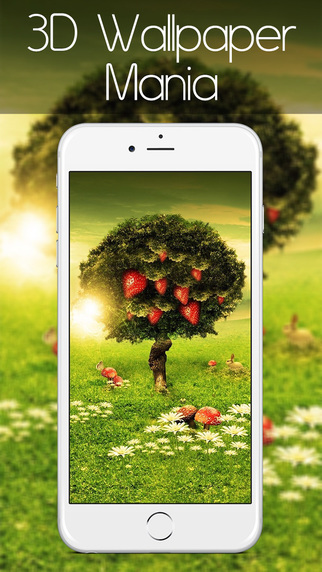 3D Backgrounds – HD Wallpaper Mania for iPhone iPad iPod with Photo Editor Picture Puzzle Game