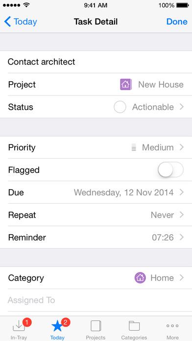 Firetask - Project-oriented Task Management (GTD-inspired) iPhone Screenshot 4
