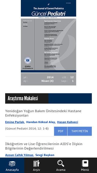 GP - The Journal of Current Pediatrics - Güncel Pediatri Dergisi