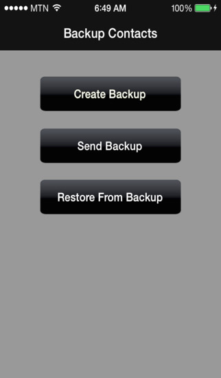 Backup of Contacts