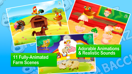 Old MacDonald Had a Farm by Bacciz a kids and toddler app for children who love animals music apps a
