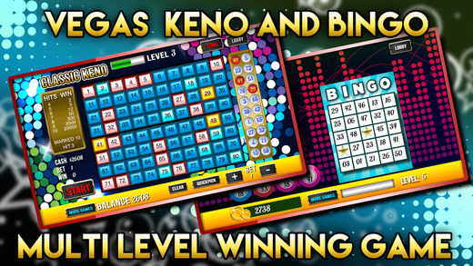 Vegas Keno Blitz with Bingo Party and Big Fortune Wheel Of Fun