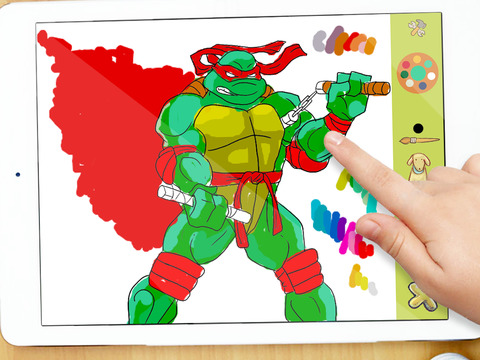 Coloring Artwork for Teenage Mutant Ninja Turtles TMNT Unofficial Version