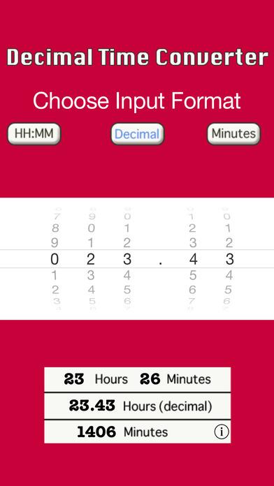 Decimal Time Converter iPhone Screenshot 2