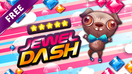 Jewel's Dash - diamond match-3 game and kids digger mania hd free