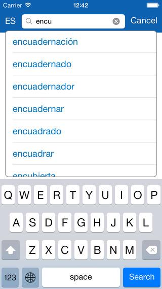 Portuguese Spanish Dictionary + Vocabulary trainer