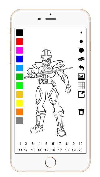【免費遊戲App】Coloring Book For Power Rangers-APP點子