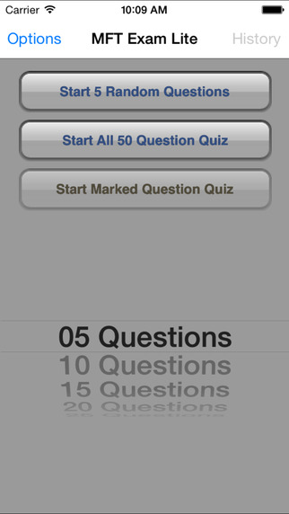 MFT Exam Lite (Free Questions) iPhone Screenshot 2