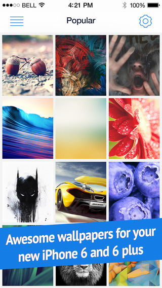 Wallpapers for iPhone 6 and 6 Plus Retina HD ready parallax backgrounds