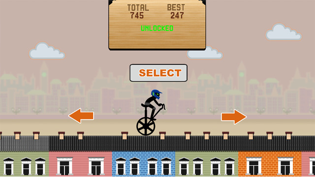 Skyline Dash Bicycle Stampede ---- a racing game about 2 raider to sprint and run on the Rooftops