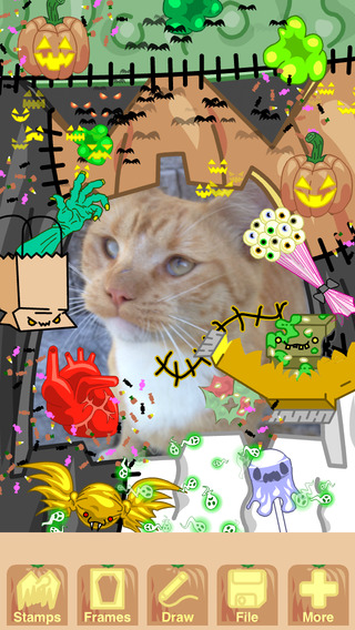 Punykura Halloween - kawaii purikura Cute Japanese Photo Sticker Horror Deco Animated GIF maker