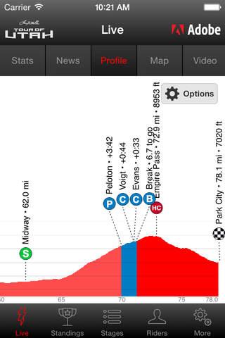 2017 Tour of Utah Tour Tracker powered by Adobe screenshot 3