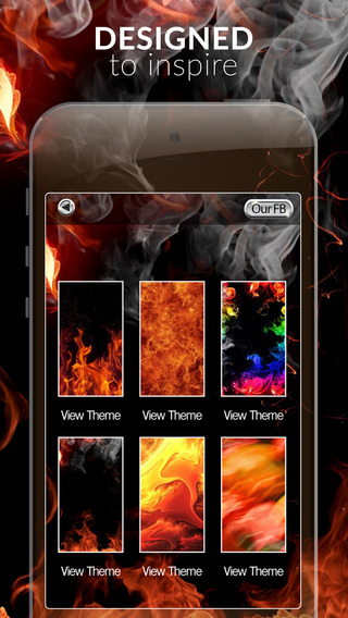 Fire Flame Gallery HD – Amazing Effects Retina Wallpapers Themes and Backgrounds