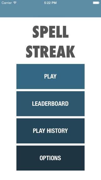 Spell Streak App
