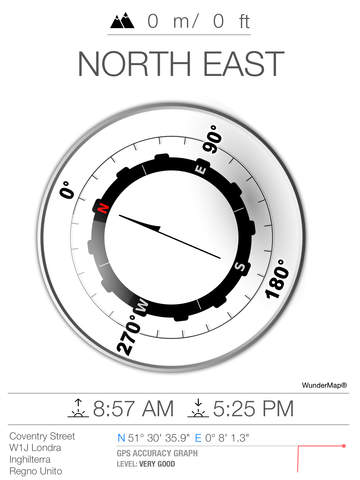 GPS Compass PRO - with altimeter and Sunrise Sunset calculator