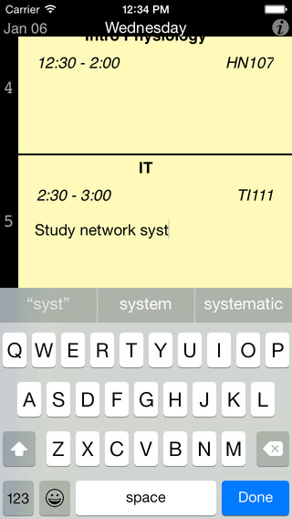 Student Timetable iPhone Screenshot 3