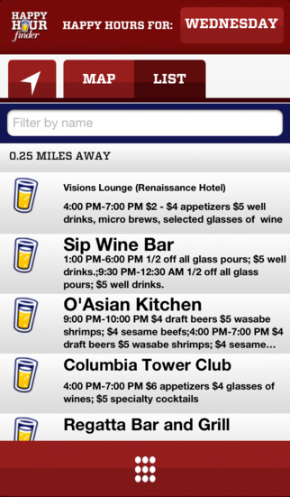 Happy Hour Finder - Find Local Food and Drink Deals