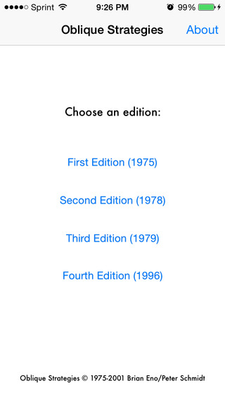 Oblique Strategies: All Four Editions
