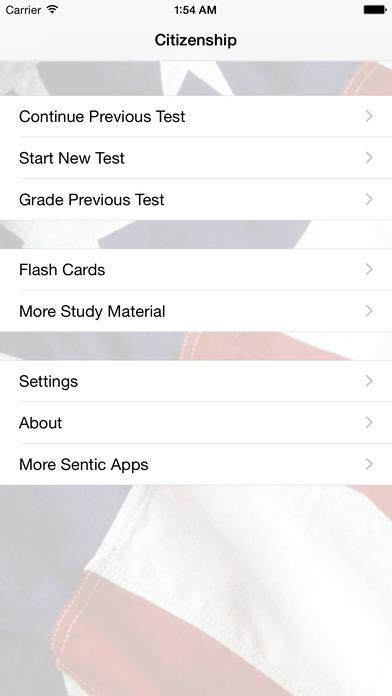 U.S. Citizenship Test iPhone Screenshot 2