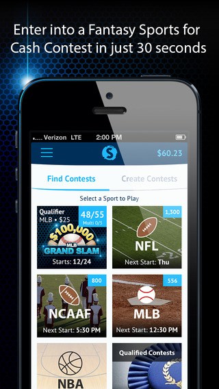 Swoopt - Daily Fantasy Sports Center - Earn Cash Prizes - Draft Leagues for Fantasy Football Basebal