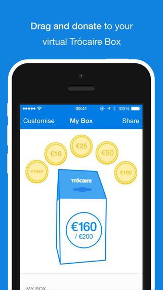 The Trócaire Box app