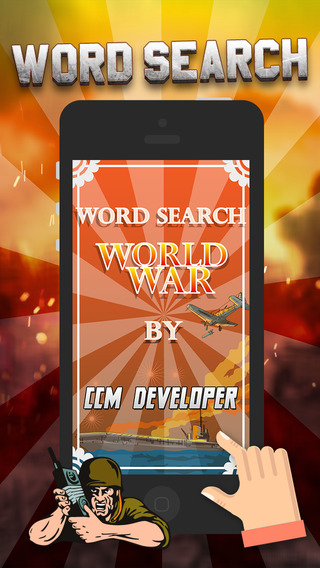 "Word Search World War History – ""Super Classic Wordsearch Puzzle Game"""