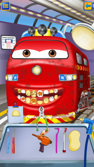 Bubbly Train Dentist Wash: Kids Game with Trolley
