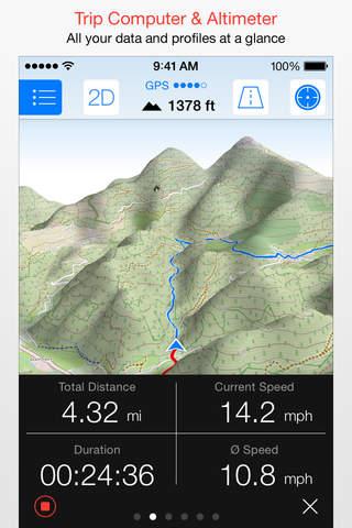iphone Maps 3D PRO - GPS Tracks für Fahrrad,  Wandern,  Ski & Outdoor Screenshot 1