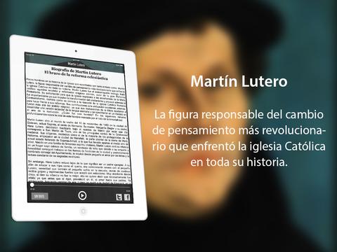 Martín Lutero: fundador de la rama protestante del cristianismo luterana iPad Screenshot 2