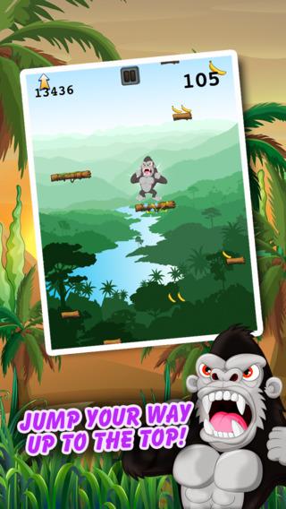 Climbing Ape - Angry Gorilla Jumping Rush PRO