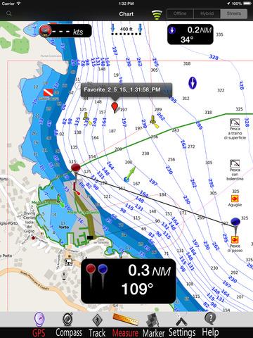 Giglio Island GPS Nautical charts pro