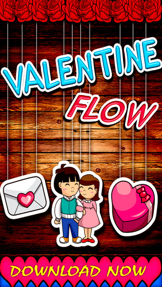 Love Flow free brain puzzle game:Connect your valentine stickers
