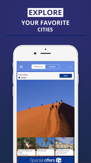 Namibia - your travel guide with offline maps from tripwolf guide for sights tours and hotels in Swa