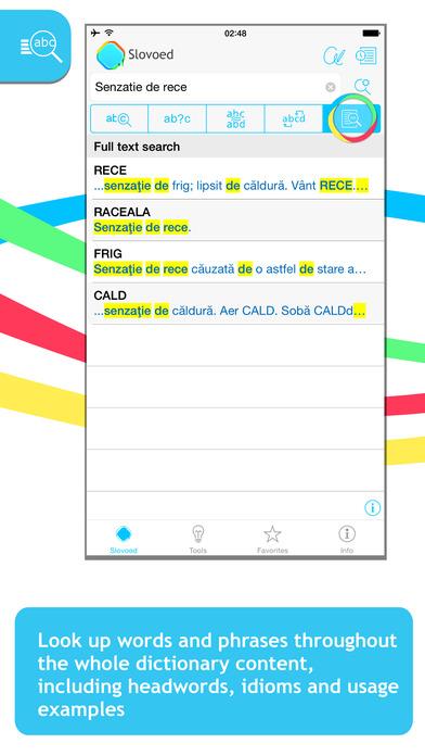 Romanian Explanatory SlovoEd Classic Dictionary iPhone Screenshot 2