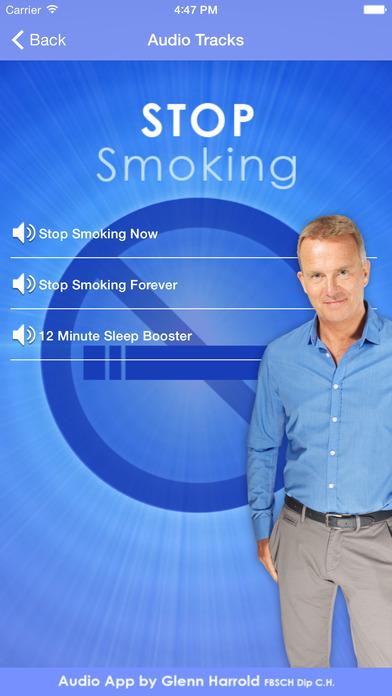 Stop Smoking Forever - Hypnosis by Glenn Harrold iPhone Screenshot 2