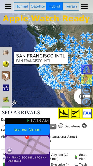 FAA Airport Status Flight Schedule Pro - Live Street Map View and Road Trip Finder