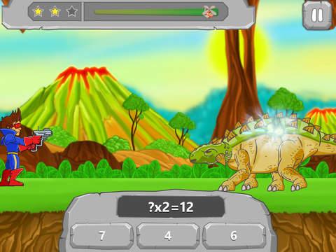 Динозавры vs. Математика для Школа: Про Издание для Учителя - Математические Игры: Таблица Умножения, Дополнение, Деление, Вычитание