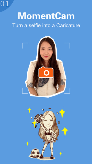 MomentCam - Make Funny Caricatures : Take a Photo