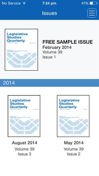 【免費教育App】Legislative Studies Quarterly-APP點子