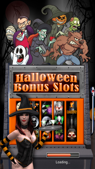 Scary Halloween Bonus Slots - Free Vegas Casino Machine Craze Trick or Treat