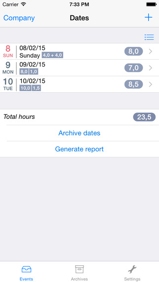 HourTracker: work time tracking and reporting tool.